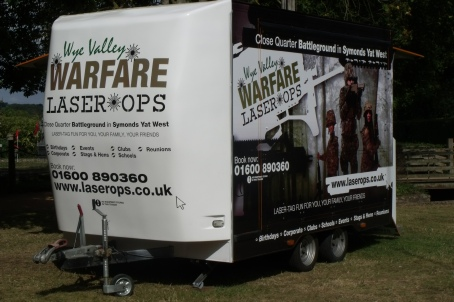 Mobile laser tag for events